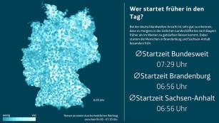 Telefónica Next-Grafik: Wer startet früher in den Tag?©Telefónica Next