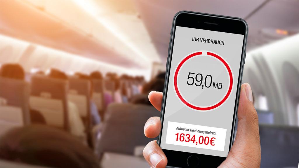 Surfen Im Flugzeug Kostenfalle Daten Roaming Computer Bild