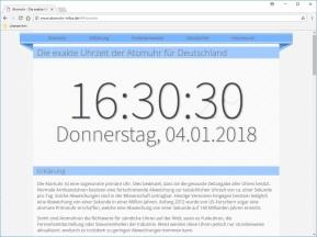 Online-Atomuhr: Exakte Uhrzeit für Deutschland