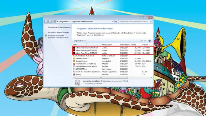 Adobe Flash Player deinstallieren: So verschwindet der Unsicherheitsfaktor©COMPUTER BILD