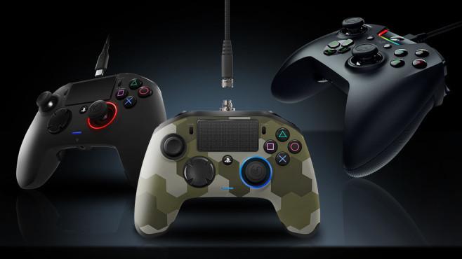 Test: Profi-Controller für PS4 und Xbox One Profi-Controller bieten deutlich mehr Funktionen als Standard-Gamepads, sind aber auch deutlich teurer. Ob sich der Kauf lohnt, verrät der Test.©Nacon, Razer