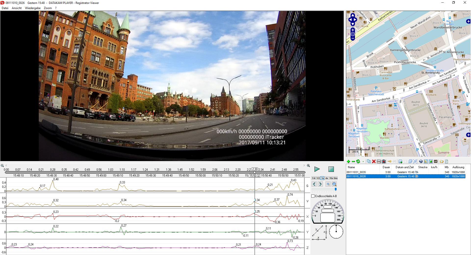 Screenshot 1 - Datakam Player (Registrator Viewer)