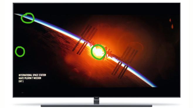 Samsung Q9FN im Helligkeits-Test©Sony Pictures, COMPUTER BILD