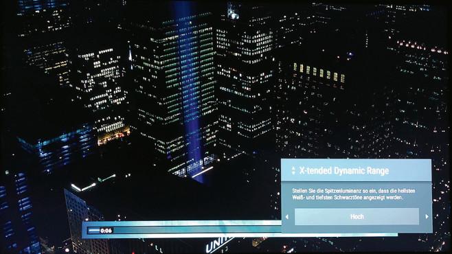 Sony Bravia AF8 im Test: Bei diesem OLED-Fernseher klingt der Bildschirm! Mit der Xtended Dynamic Range Einstellung verleiht der Sony auch herkömmlichen Filmen und TV-Sendungen eine HDR-Anmutung, ohne zu überzeichnen.©COMPUTER BILD