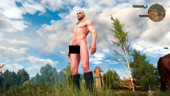Naked Geralt ©Ninivekha, NexusMods