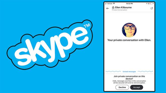 Skype: Private Unterhaltung©Microsoft (Montage)