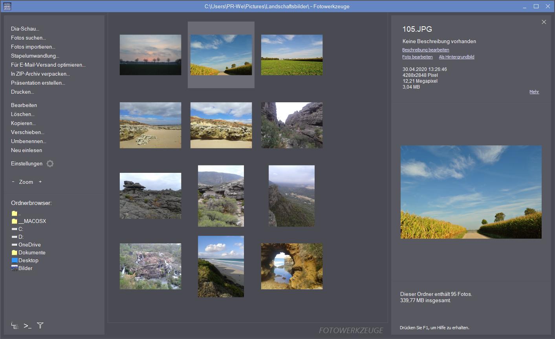 Screenshot 1 - JMMG Fotowerkzeuge 3 – Kostenlose Vollversion