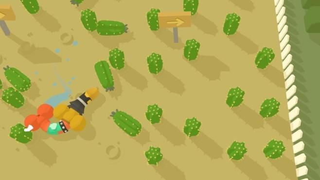 Genital Joustice: Ein Pimmel im Himmel Ein Lied von reih und Glied Die Minispiele machen richtig Laune! Hier versuchen Sie als erster durch einen Kaktusparcours zu kommen. Autsch!©Devolver Digital