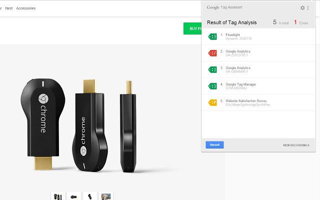 Screenshot 1 - Google Tag Assistant für Chrome