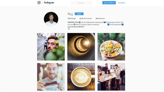 Instagram-Account von Frederik Fleig©Instagram / fflyg