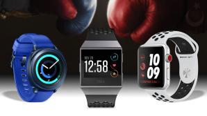 Samsung Gear Sport vs. Fitbit Ionic vs. Apple Watch Series 3©Fitbit, Apple, Samsung, ©istock/Gutzemberg
