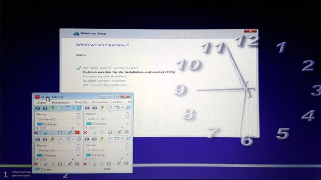 Umschalt-F10 – Kommandozeile beim Windows-Setup ©COMPUTER BILD