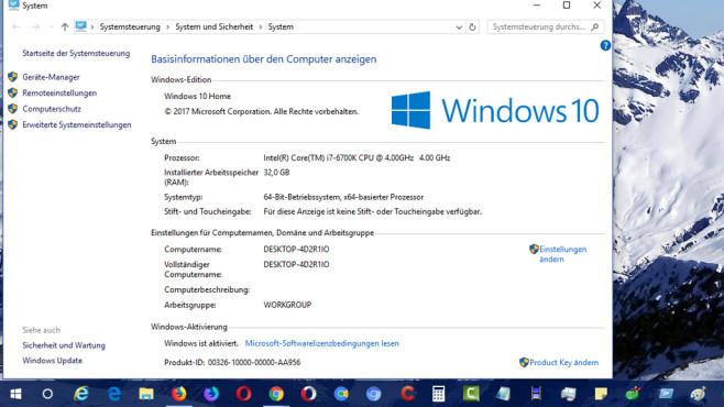 Windows-Pause – Systemeigenschaften ©COMPUTER BILD