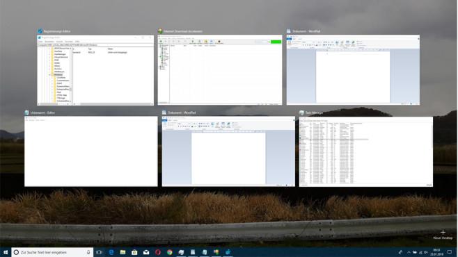 Windows-Tabulator – virtuelle Desktops ©COMPUTER BILD