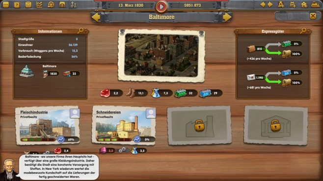 Railway Empire - Screenshot 2 © Kalypso Media