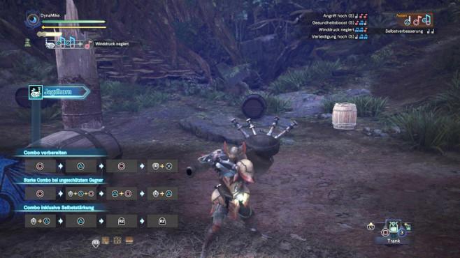 Monster Hunter – World: Die besten Waffen – so schlagen Sie sich durch! Schwer aber oho! Das Jagdhorn versorgt Sie und Ihre Mitspieler mit Buffs.©Capcom