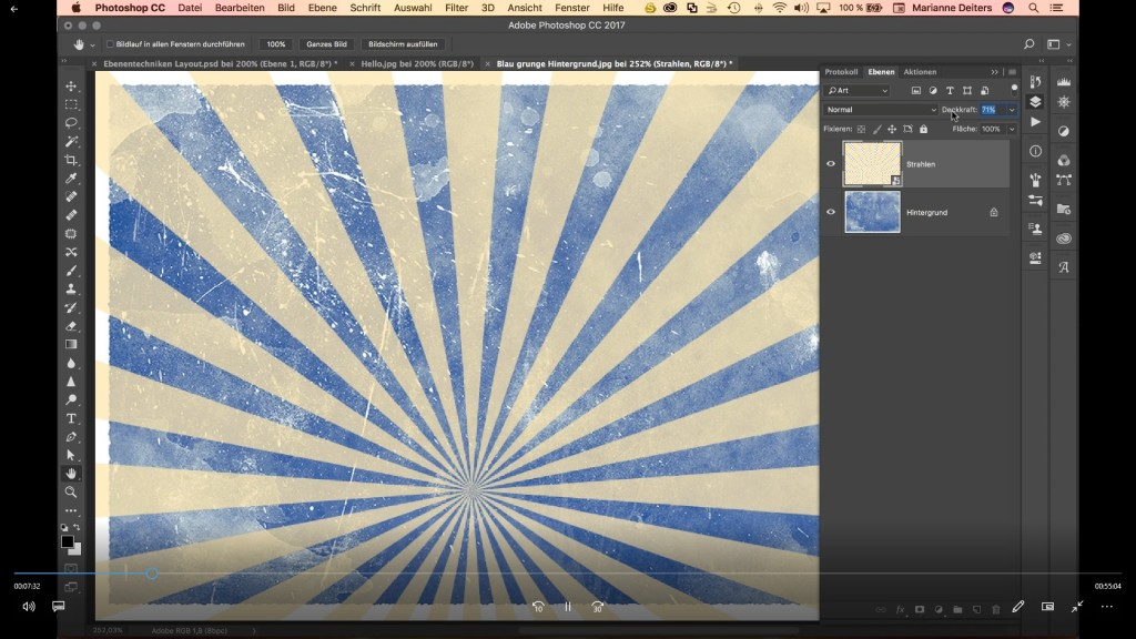 Screenshot 1 - Photoshop 2018: Mit Ebenen bessere Ergebnisse erzielen (Video-Workshop)