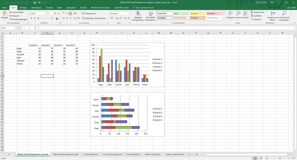 Screenshot 1 - Excel-Workshop: Diagramme in Excel erstellen (Webinarvideo)