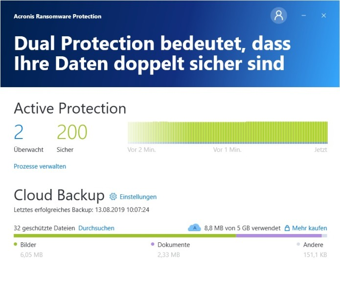 Screenshot 1 - Acronis Ransomware Protection