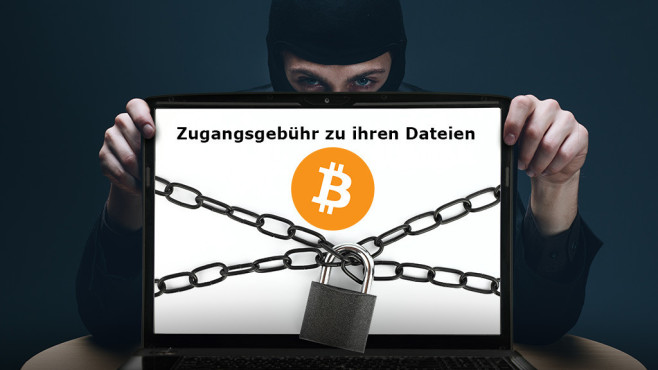 Ransomware: Lösegeld für Ihre Dateien©Amir Kaljikovic - Fotolia.com, viperagp - Fotolia.com, Bitcoin