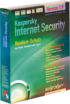 Kaspersky Internet Security 7 Kaspersky: Schnelle Updates sind sicher.