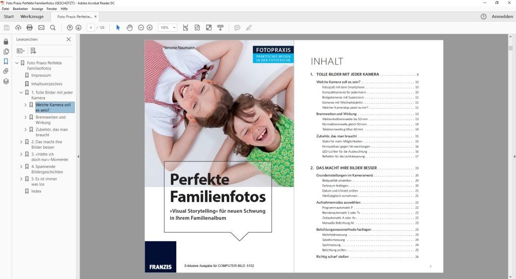 Screenshot 1 - eBook: Perfekte Familienfotos