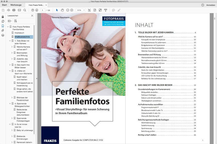 Screenshot 1 - eBook: Perfekte Familienfotos (Mac)