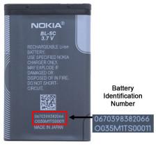 Rückrufaktion: Nokia warnt vor defekten Handy-Akkus Die Identifikationsnummer gibt Aufschluss darüber, ob der Akku kaputt ist oder nicht.