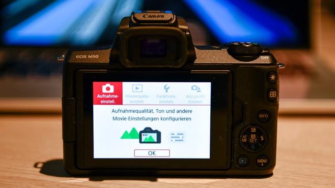Canon EOS M50: Einfaches Menü©COMPUTER BILD