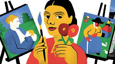 Google Doodle: Paula Modersohn-Becker©Google