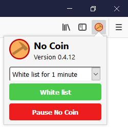 Screenshot 1 - No Coin für Firefox