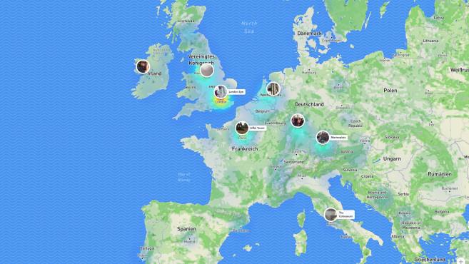 Snapchat: Snap Map im Browser©Snapchat