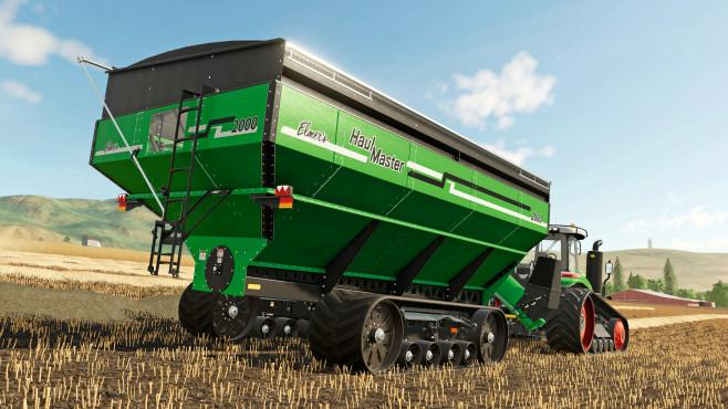 Landwirtschafts-Simulator 19: Das Glück dieser Erde! Rückansicht: Der HaulMaster 2000 hat ein riesiges Fassungsvermögen. Und das sieht man!©Astragon