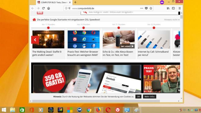 firefox -private-window URL oder firefox -new-tab URL ©COMPUTER BILD