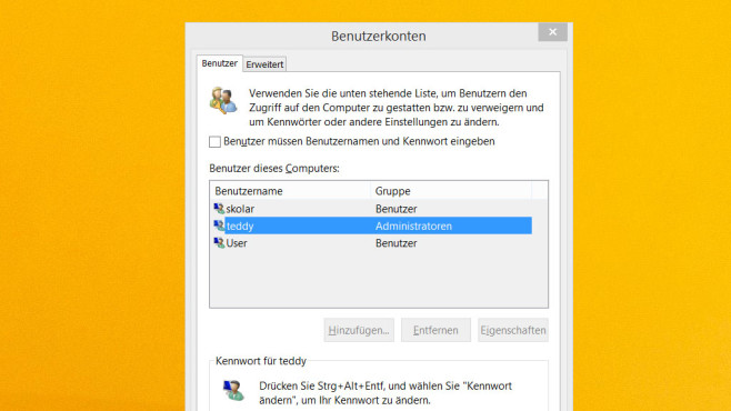 netplwiz und control userpasswords2 ©COMPUTER BILD
