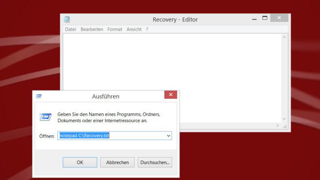 notepad Dateipfad ©COMPUTER BILD