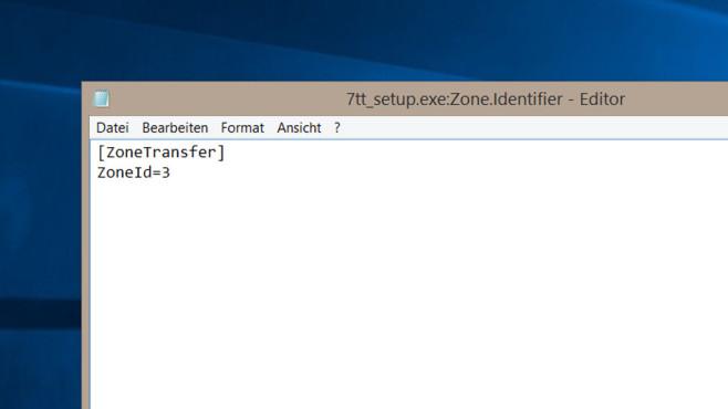notepad Dateipfad:Zone.Identifier ©COMPUTER BILD