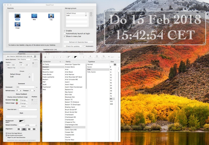 Screenshot 1 - GeekTool (Mac)