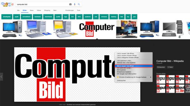 Google Bildersuche: Bild anzeigen per Browser©COMPUTER BILD
