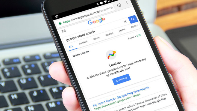 Google Word Coach © iStock.com/LUHUANFENG
