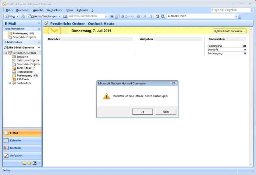 Screenshot 1 - Microsoft Outlook Hotmail Connector