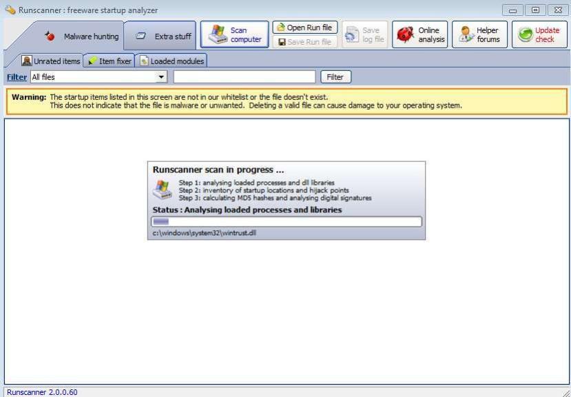 Screenshot 1 - Runscanner