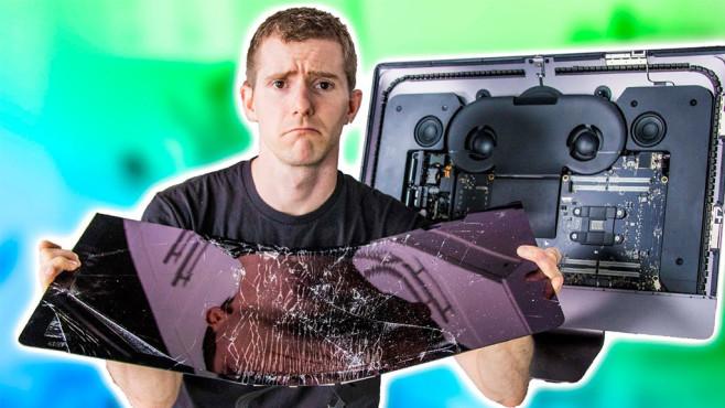 Linus Sebastian mit defektem iMac Pro©Screenshot YouTube-Kanal Linus Sebastian