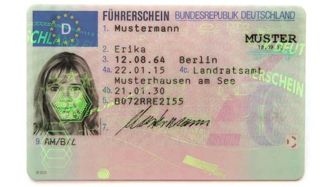 Deutscher Führerschein©Bundesverkehrsministerium