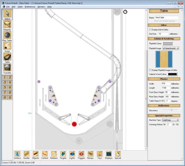 Screenshot 1 - Future Pinball