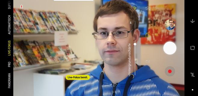 Samsung Galaxy S9 Plus: Live-Fokus©COMPUTER BILD