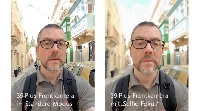 Samsung Galaxy S9 Plus: Selfie-Fokus©COMPUTER BILD