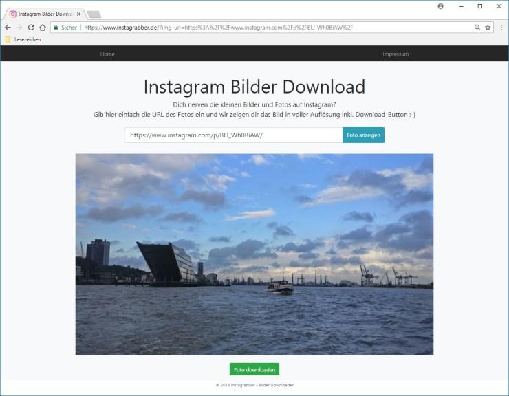 Screenshot 1 - Instagram Bilder Download