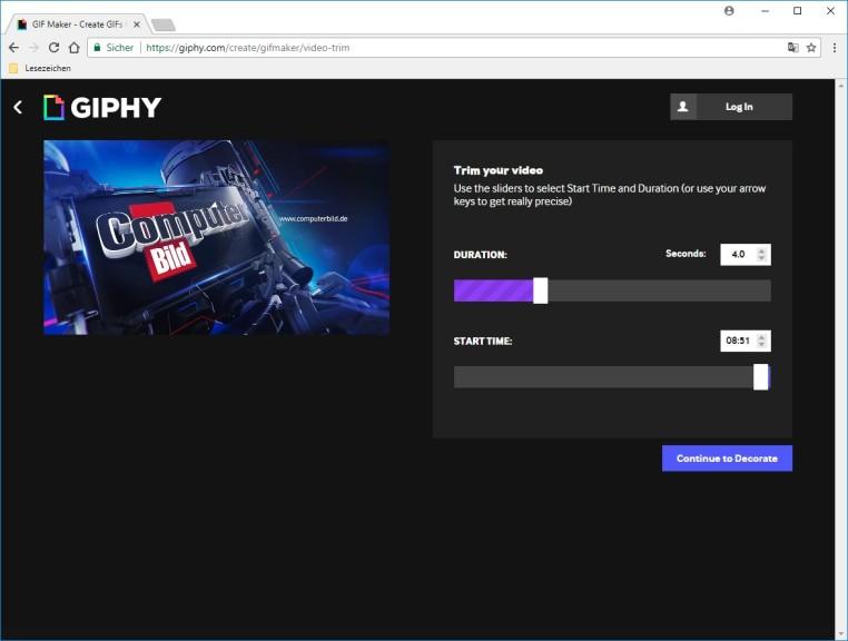 Screenshot 1 - Giphy GIF Maker