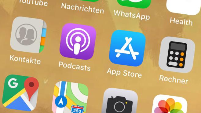 Apps auf iPhone-Display©COMPUTER BILD